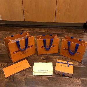 Louis Vuitton Box Dust Bag Bundle